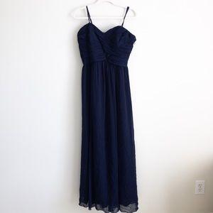 Ralph Lauren evening dress, strapless navy chiffon